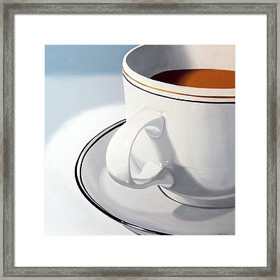 Large Coffee Cup Framed Print
