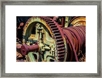 Large Gear And Cable Framed Print