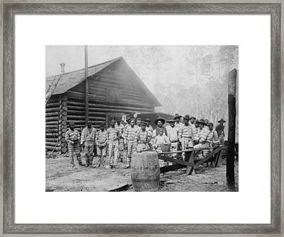 Large Group Of African American Men Framed Print