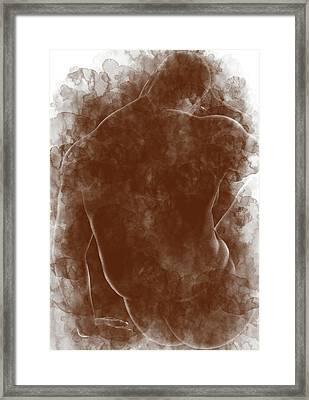 Large Man Backside Framed Print by Peter J Sucy