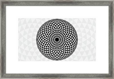 Large Mandala Art Print Framed Print