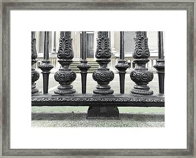 Large Metal Railings Framed Print by Tom Gowanlock