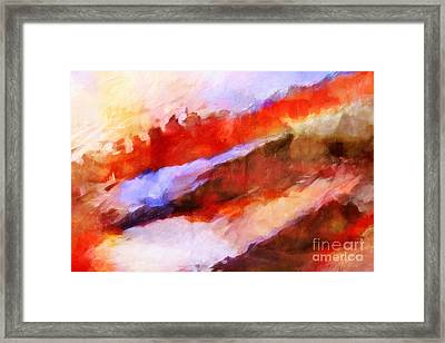 Large Motion Framed Print