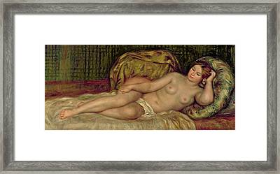 Large Nude Framed Print by Pierre Auguste Renoir