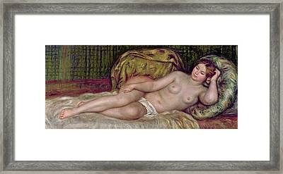 Large Nude Framed Print by Pierre Auguste Renoir
