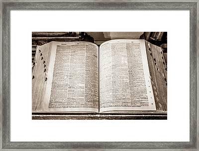 Large Old Dictionary Framed Print