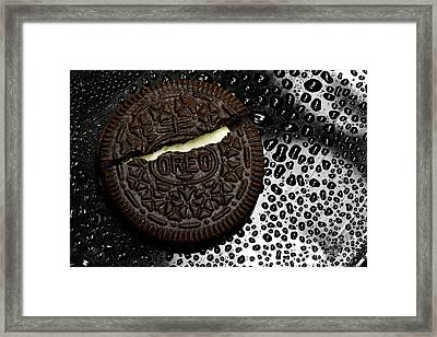 Large Oreo Cookie 1  Framed Print