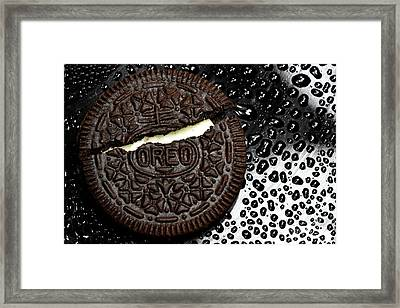 Large Oreo Cookie 2 Framed Print