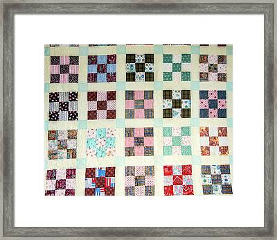 Large Quilt Framed Print