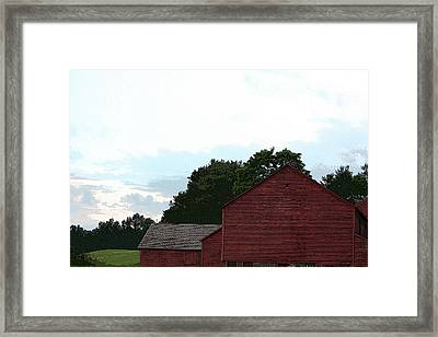 Large Red Barn Framed Print