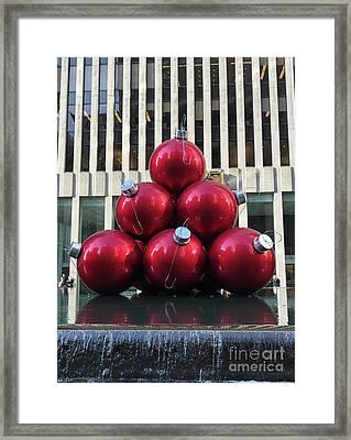 Large Red Ornaments Framed Print