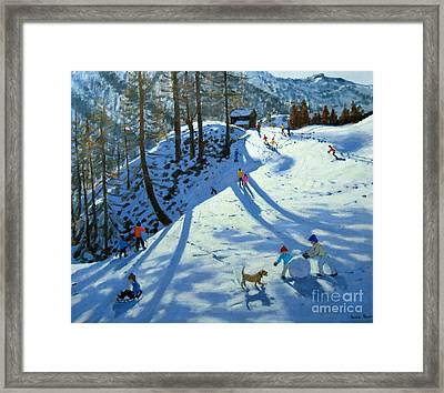 Large Snowball Zermatt Framed Print