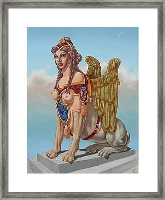 Large Sphinx Of The Vienna Belvedere Framed Print