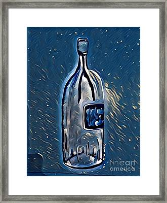 Large Wine Bottle - Liquid Delight Framed Print