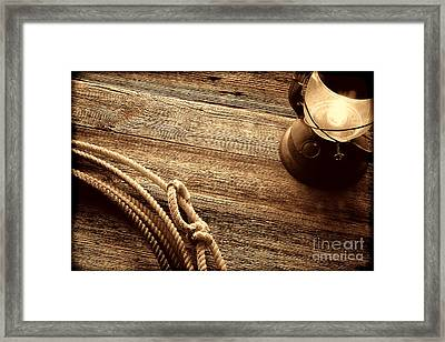 Lariat And Lantern Framed Print