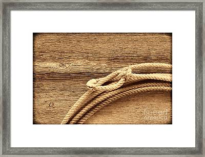 Lariat On Wood Framed Print