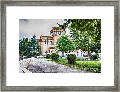 Larissa Old City Church Framed Print by Jivko Nakev