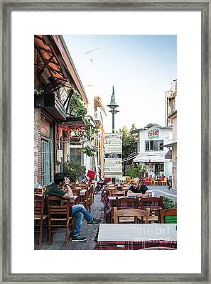 Larissa Old City Street View Framed Print by Jivko Nakev