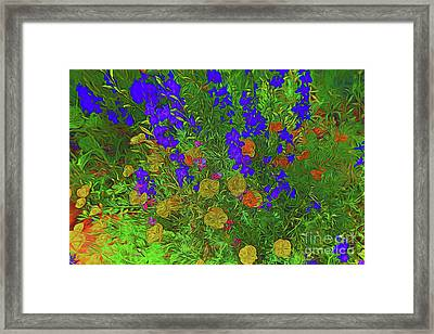 Larkspur And Primrose Garden 12018-3 Framed Print