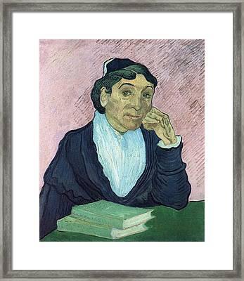L'arlesienne, Portrait Of Madame Ginoux, 1890 03 Framed Print