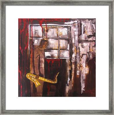 Larmes Du Jazz Framed Print