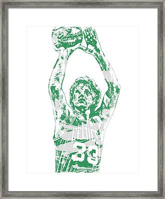 Larry Bird Boston Celtics Pixel Art 5 Framed Print