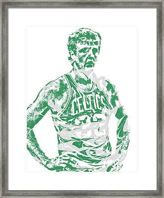 Larry Bird Boston Celtics Pixel Art 6 Framed Print