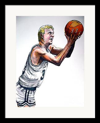 Larry Bird Framed Prints