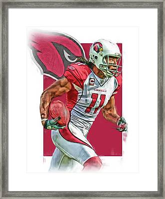 Larry Fitzgerald Arizona Cardinals Oil Art 2 Framed Print