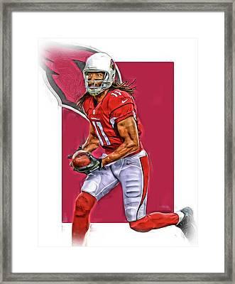 Larry Fitzgerald Arizona Cardinals Oil Art Framed Print