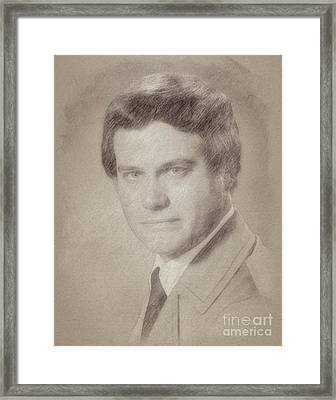 Larry Hagman, Actor Framed Print by Frank Falcon