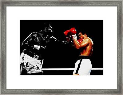 Larry Holmes And Muhammad Ali Framed Print