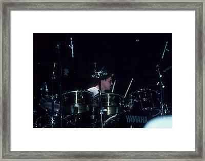 Larry Mullen, Jr. Of U2 Framed Print by Rich Fuscia
