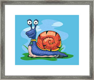 Larry The Snail Framed Print