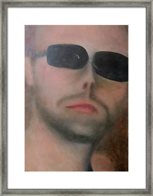 Framed Print featuring the painting Lars Ulrich by Patricia Cleasby