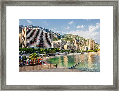 Larvotto Beach In Monaco Framed Print by Elena Elisseeva
