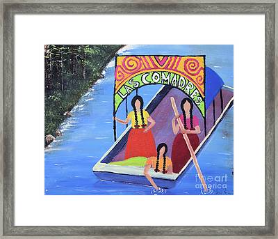 Las Comadres En Xochimilco Framed Print