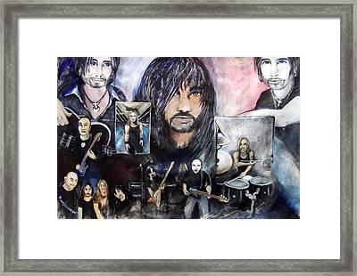 Las Death And Taxes Framed Print by Amy Stewart Hale