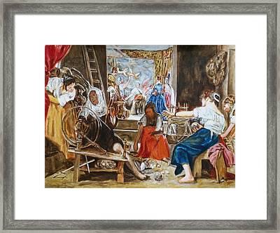 Las Hilanderas. Study Framed Print by Bachmors Artist