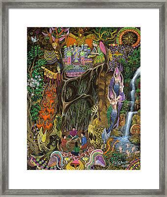 Las Nalpeas Del Renaco  Framed Print