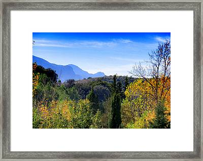 Las Pedrizas Mountains Framed Print
