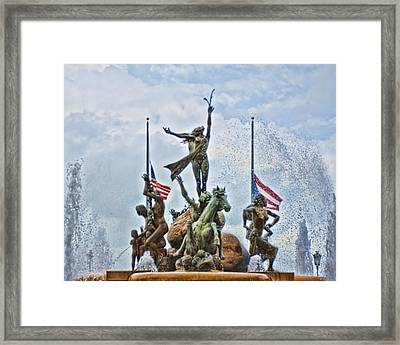 Las Raices Fountain Framed Print