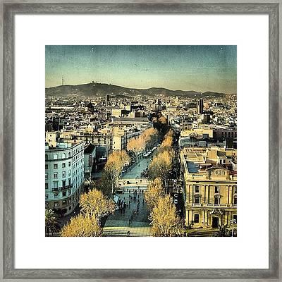 Las Ramblas - Barcelona Framed Print