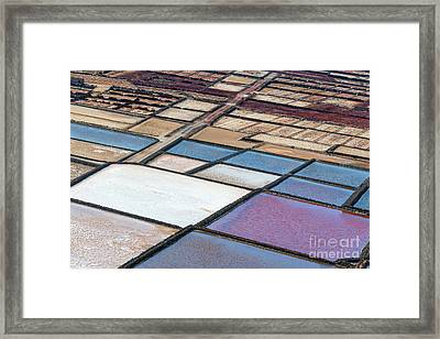 Las Salinas Framed Print by Delphimages Photo Creations