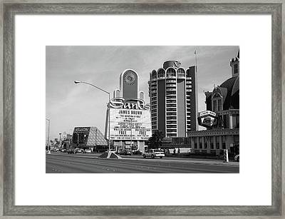 Framed Print featuring the photograph Las Vegas 1994 #1 Bw by Frank Romeo