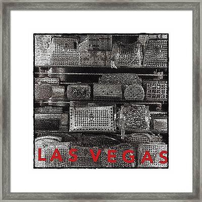 Las Vegas Bling Framed Print