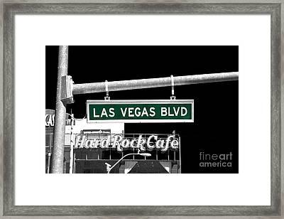 Las Vegas Blvd Fusion Framed Print by John Rizzuto
