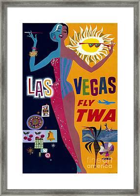 Las Vegas Fly Twa Poster Framed Print