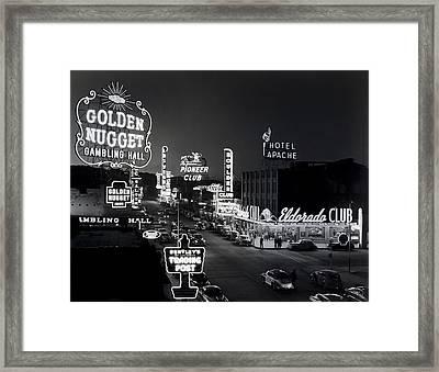 Las Vegas Fremont Street C. 1947 Framed Print