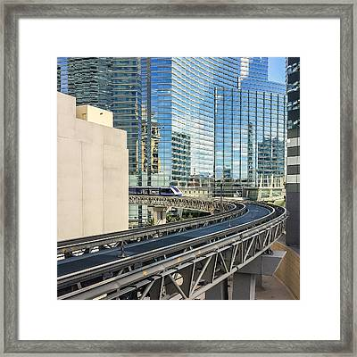 Framed Print featuring the photograph Las Vegas Funhouse by Ron Dubin